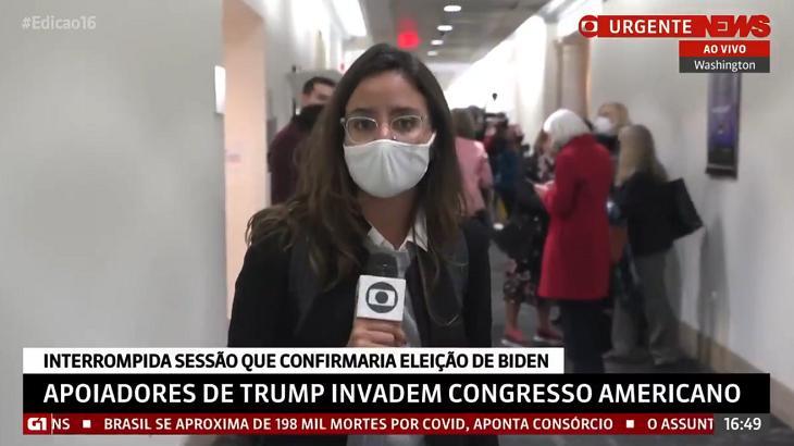 Raquel Krähenbühl ao vivo na GloboNews