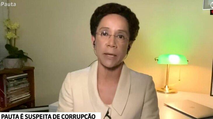 Zileide Silva durante sua volta ao Em Pauta, em link de casa