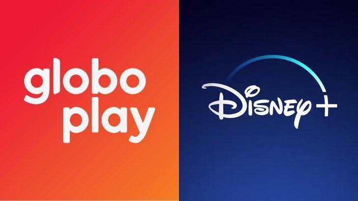 Logotipos Globoplay e Disney+