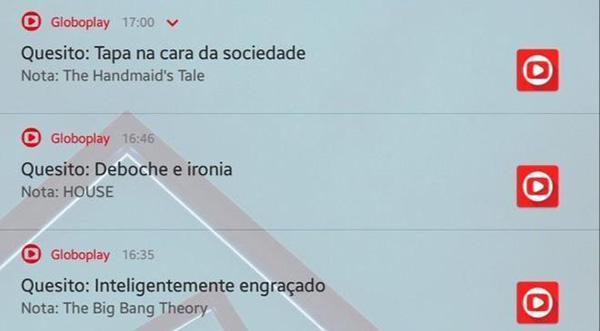 """Globoplay volta a lançar notificações \""""engraçadinhas\"""" para assinantes"""