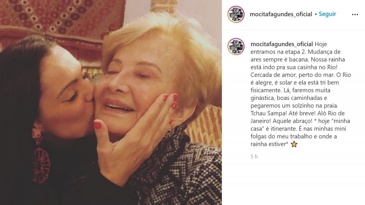 Após morte de Tarcísio Meira, Glória Menezes deixa sítio e vai viver no Rio