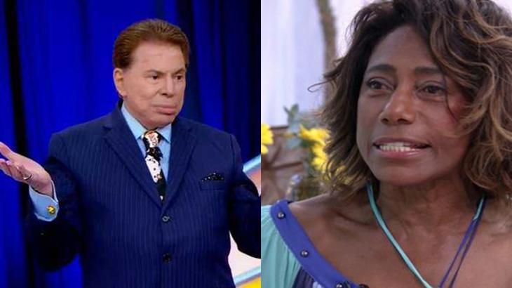 Silvio Santos e Gloria Maria