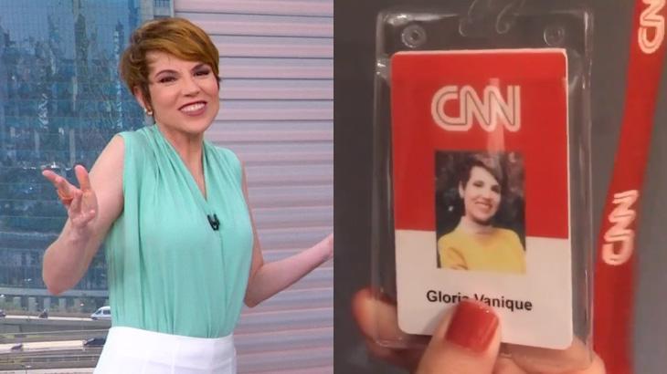 Glória Vanique exibe crachá da CNN Brasil