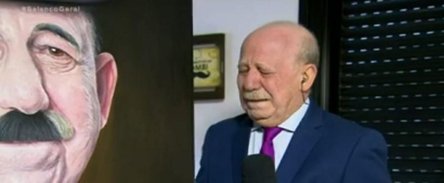 Renato Lombardi se emociona no Balanço Geral SP