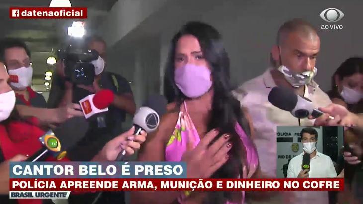"""Gracyanne ironiza prisão de Belo: \""""Quem prende tá sem máscara e distanciamento\"""""""