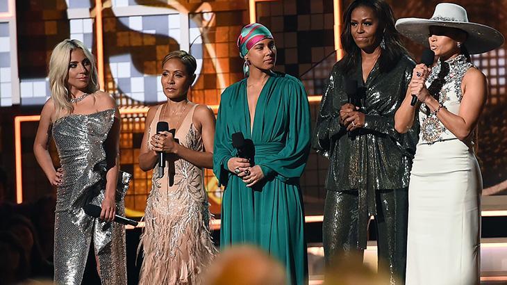 Lady Gaga, Jada Pinkett Smith, Alicia Keys, Michelle Obama e Jennifer Lopez