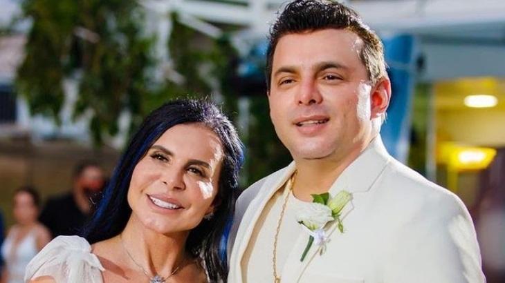 Gretchen e Esdras de Souza se casaram em 2020