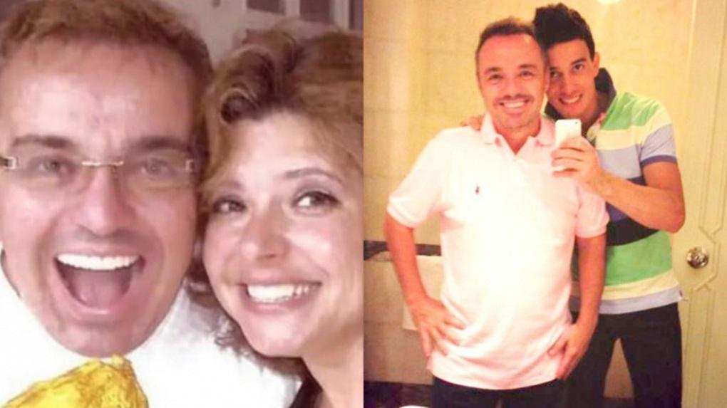 Rose Miriam e Thiago Salvático postaram fotos ao lado de Gugu Liberato na data em que ele completaria 62 anos