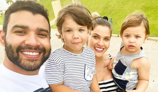 Gusttavo Lima, Andressa Suita e filhos