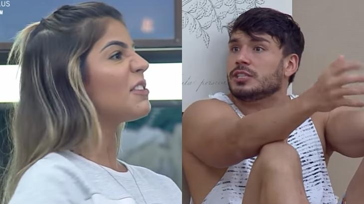 Hariany e Lucas bateram boca durante o reality show A Fazenda 2019