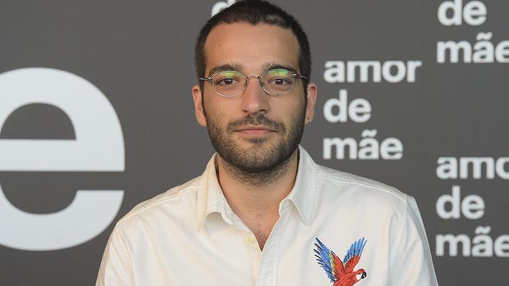 Humberto Carrão na divulgação de Amor de Mãe