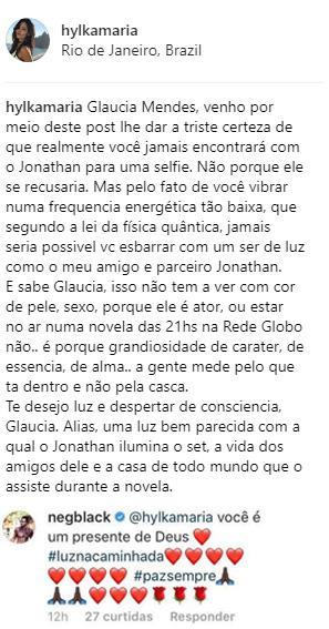 """Traficante em \""""A Força do Querer\"""", Jonathan Azevedo é alvo de racismo e amiga o defende"""