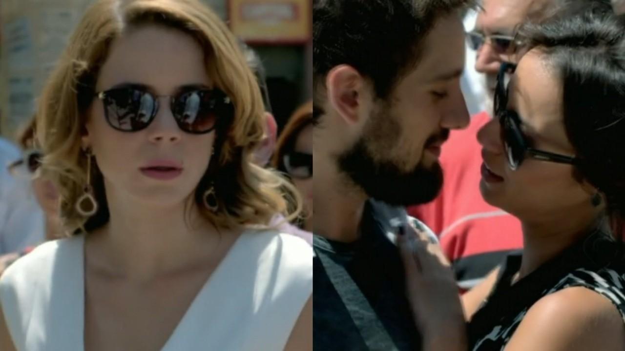 Leandra Leal, Rafael Cardoso e Andreia Horta em cena da novela Império, em reprise na Globo