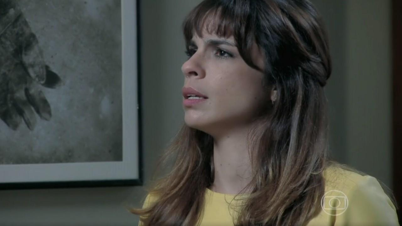 Danielle de camisa amarela durante briga com maurílio