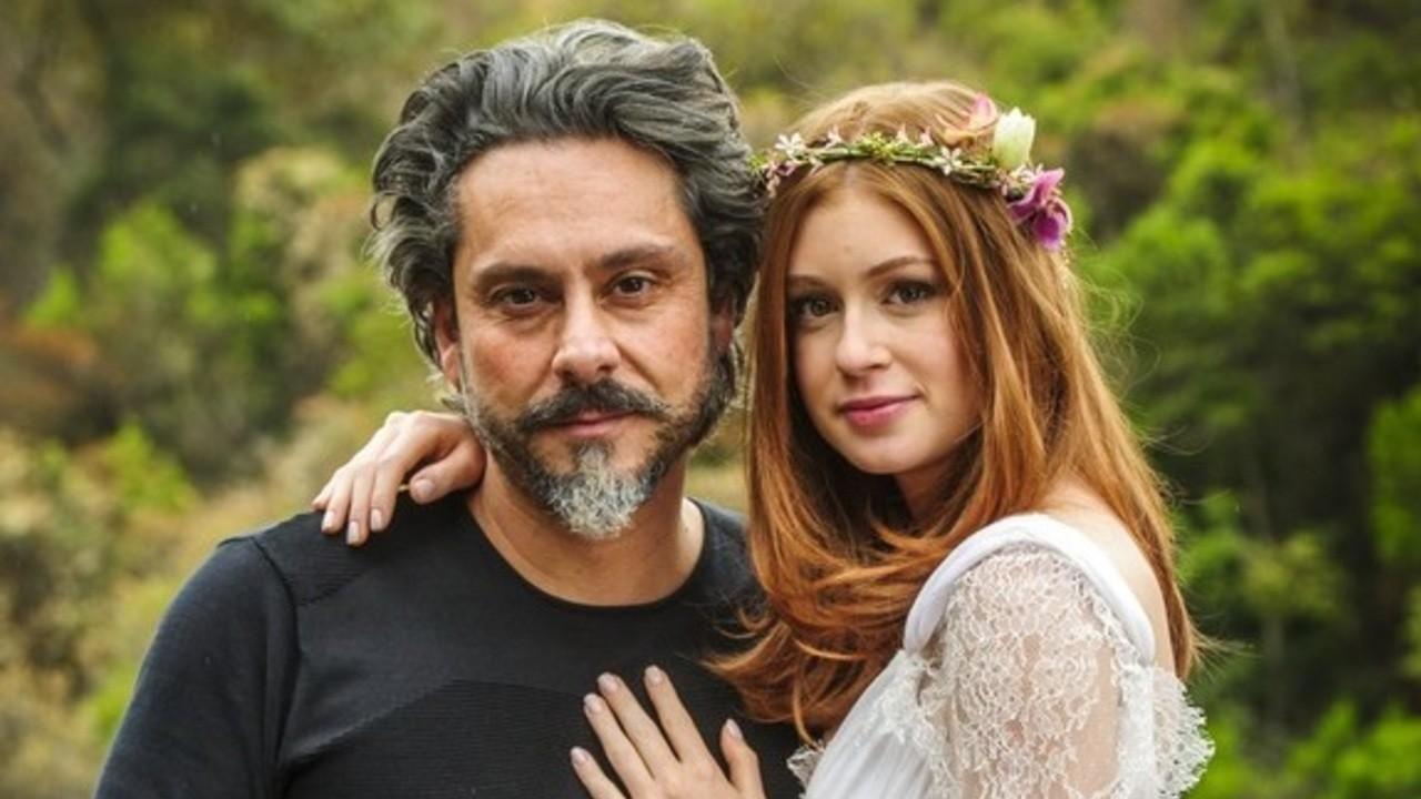 Alexandre Nero e Marina Ruy Barbosa como José Alfredo e Maria Isis em cena da novela Império, em reprise na Globo