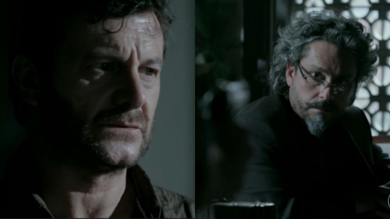 Roberto Birindelli e Alexandre Nero em cena da novela Império, em reprise na Globo