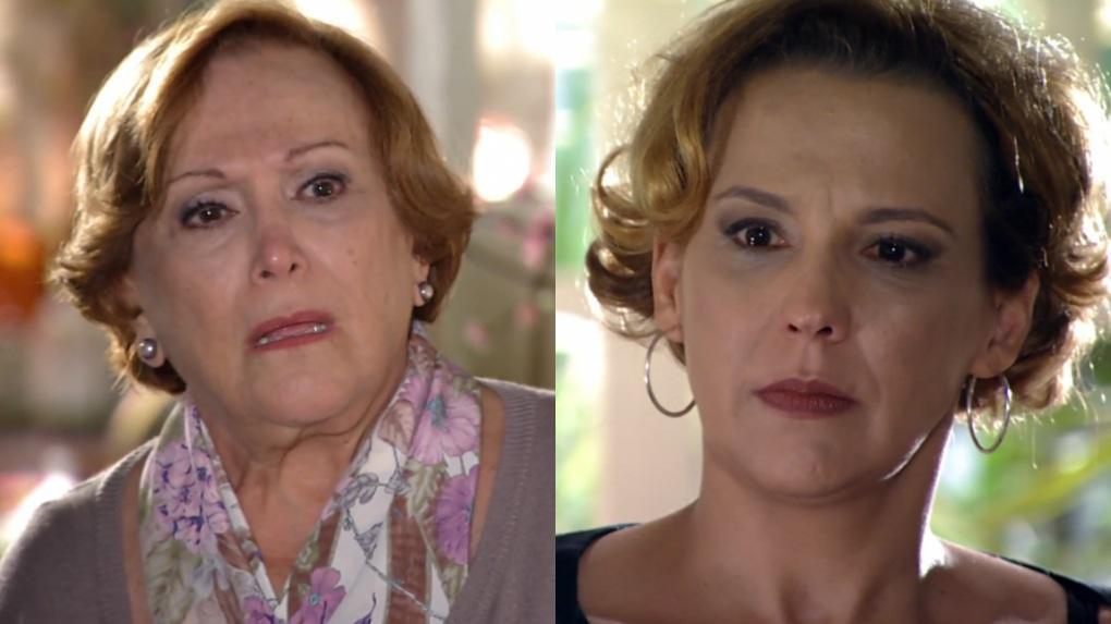 Nicette Bruno e Ana Beatriz Nogueira em cena da novela A Vida da Gente, em reprise na Globo
