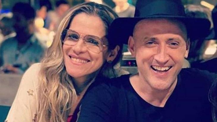 Ingrid Guimarães e Paulo Gustavo sorridentes