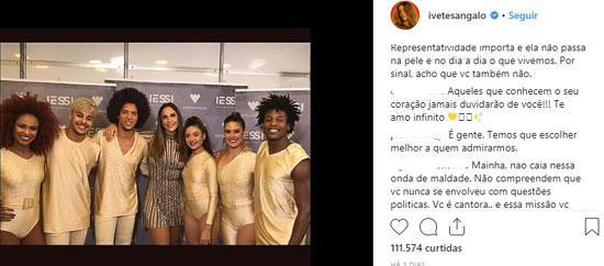 Ivete Sangalo não se pronuncia após vitória de Bolsonaro e fãs prometem boicote