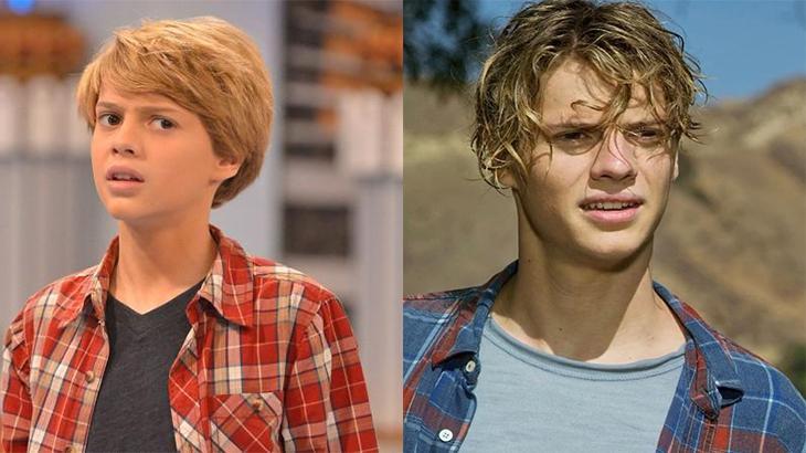 O ator Jace Norman no antes e depois