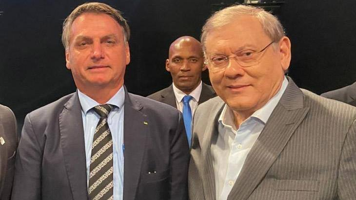 O presidente Jair Bolsonaro e o apresentador Milton Neves