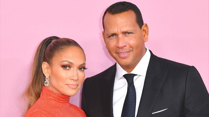 Jennifer Lopez e Alex Rodriguez lado a lado