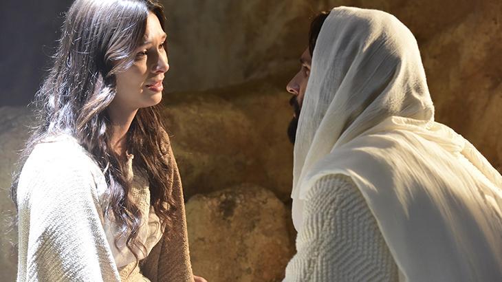 Maria Madalena e Jesus em cena da novela