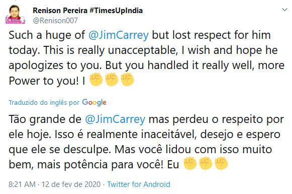 """Jim Carrey é detonado após acusação de dar em cima de repórter: \""""Praga sexual\"""""""