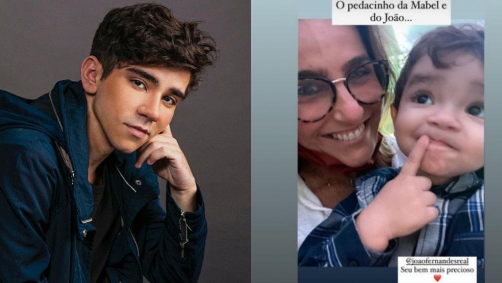 João Fernandes posa para foto; Monique Curi posta registro abraçada a Nicolas, filho do ator