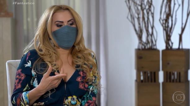 Joelma em entrevista ao Fantástico