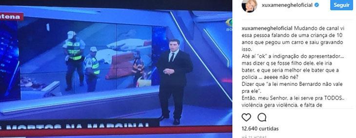 """Datena diz que Xuxa está numa \""""decadência absoluta\"""" e por isso confundiu tudo: \""""decepção\"""""""