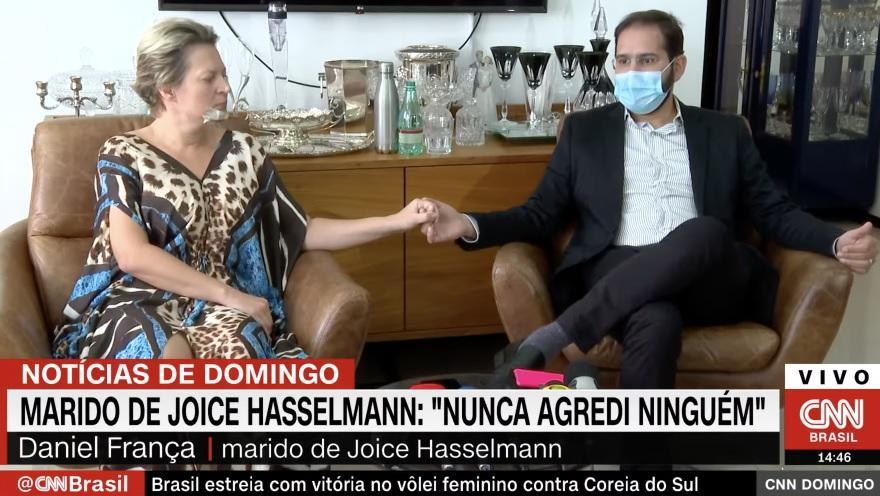 Joice Hasselmann e Daniel França em entrevista à CNN Brasil