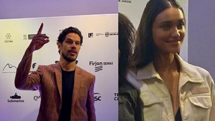 Débora Nascimento e José Loreto participam de festival mas ficam longe um do outro