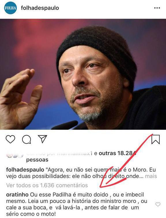 """José Padilha critica Sérgio Moro e Ratinho responde: """"Imbecil"""""""