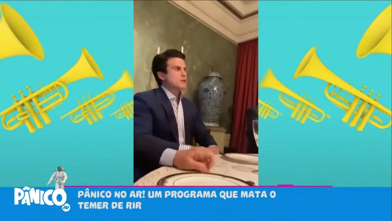André Marinho no programa Pânico
