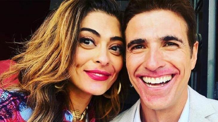 Após período sumido em A Dona do Pedaço, Reynaldo Gianecchini comemora reencontro com Juliana Paes