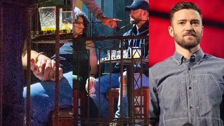 Justin flagado de mãos dadas com atriz