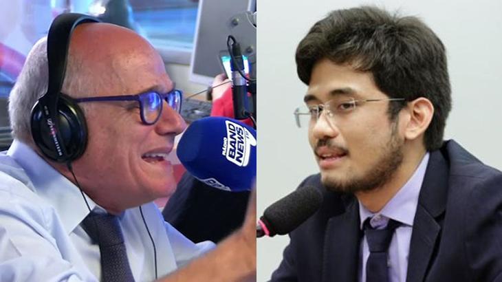 Kim Kataguri e Ricardo Boechat