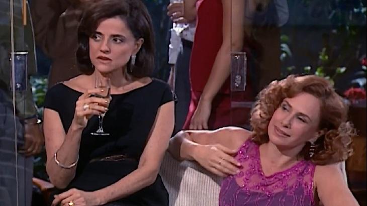 Laços de Família: Helena chega de namorado novo à festa de noivado de Camila e Edu