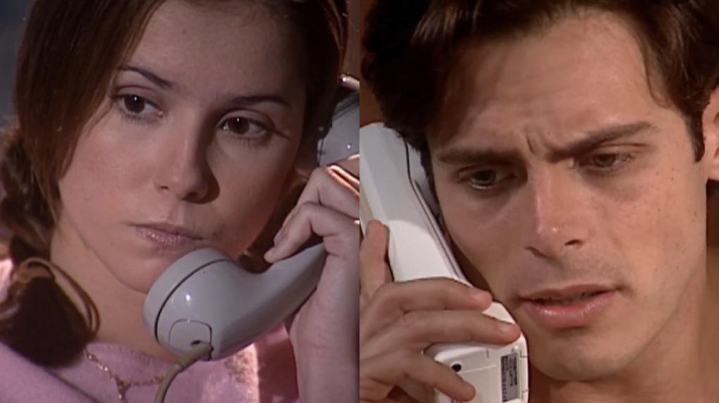 Deborah Secco e Luigi Baricelli em cena de Laços de Família, em reprise na Globo