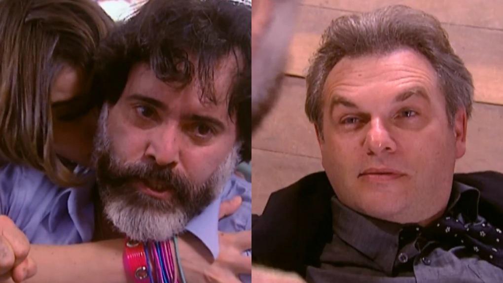Julia Feldens, Tony Ramos e Henri Pagnoncelli em cena da novela Laços de Família, em reprise na Globo