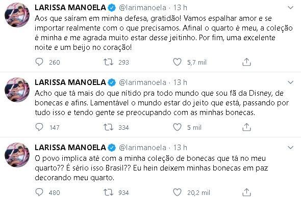 """Larissa Manoela rebate críticas contra decoração do seu quarto: \""""Lamentável\"""""""
