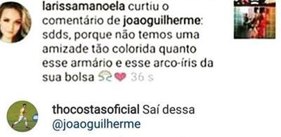 """João Guilherme surpreende os fãs ao pedir para ter \""""amizade colorida\"""" com Larissa Manoela"""