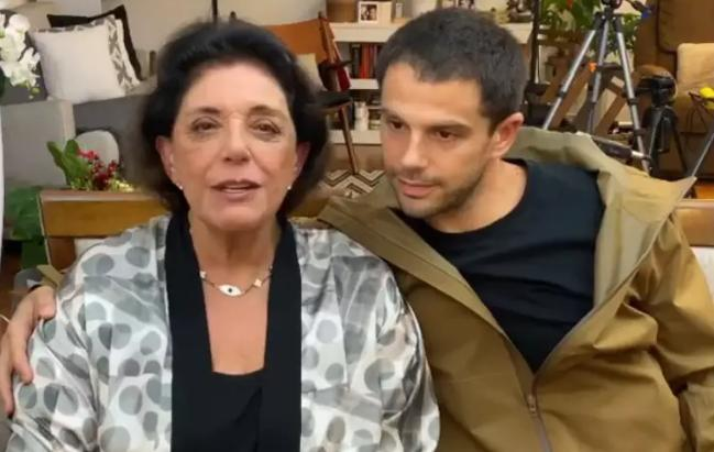 A jornalista Leda Nagle e o ator Duda Nagle