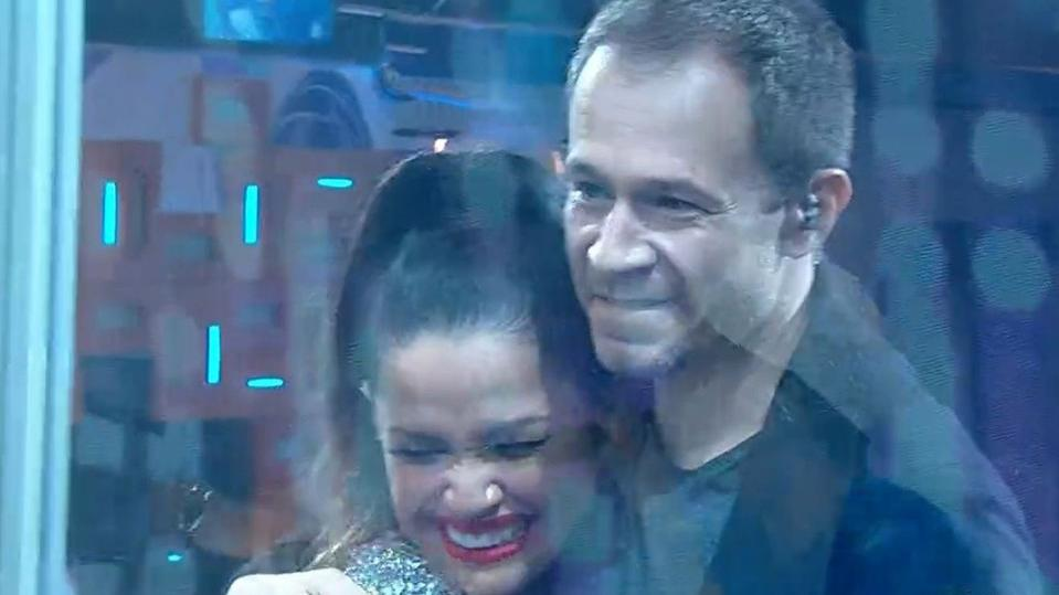 Tiago Leifert e Juliette na final do BBB21