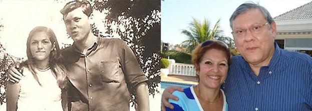Milton Neves e a esposa Lenice