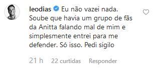 Leo Dias não perdoa