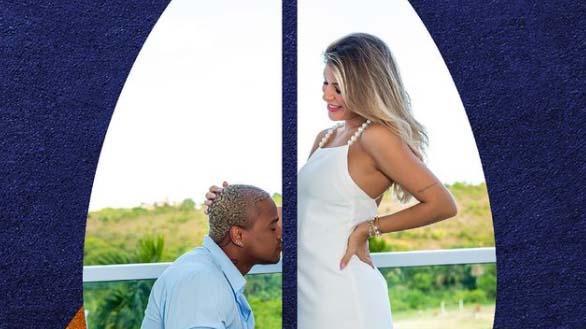 Leo Santana e a noiva