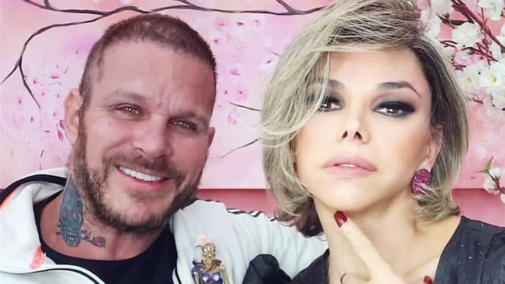 Léo Áquilla com o marido, Chico Campadello