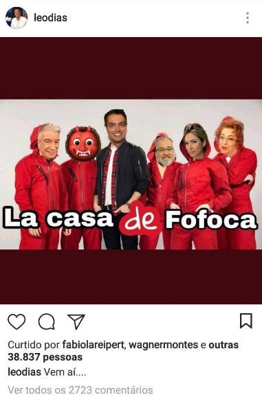 """Leo Dias é suspenso do \""""Fofocalizando\"""" após piada com Mara Maravilha"""